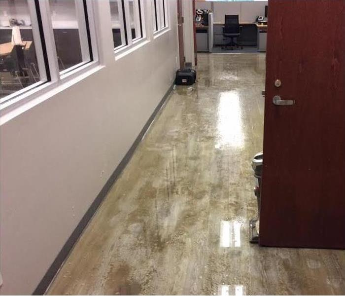 Flood Damage to Commercial Property Before